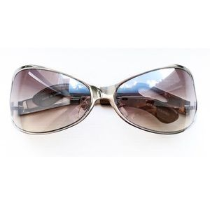 Vintage silver & brown hourglass sunglasses